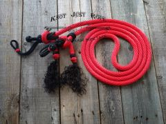 "Adjustable 5/8"" Loop Reins w/ Rope Slobber Straps"