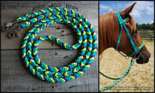 Braided 8 Strand Loop Reins