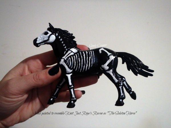 Painted Raven The Skeleton Horse Model- #2d