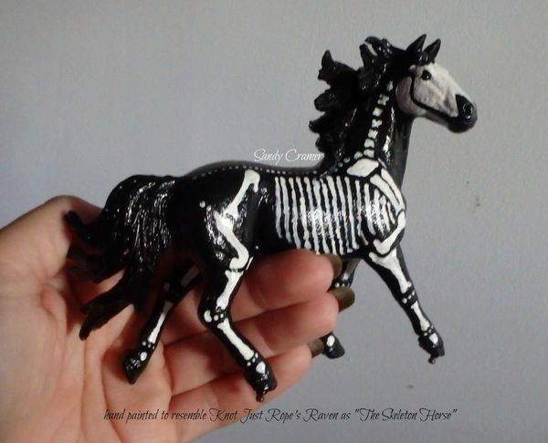 Painted Raven The Skeleton Horse Model- #2b