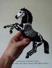 Painted Raven The Skeleton Horse Model- #3a