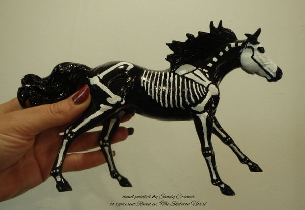 Painted Raven The Skeleton Horse Model- #3b