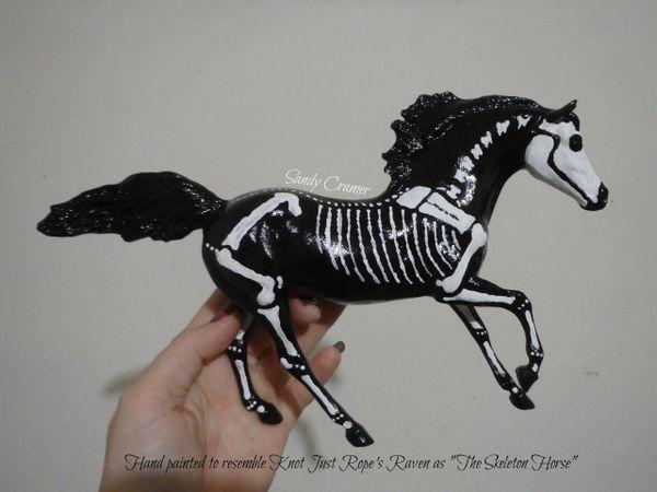 Painted Raven The Skeleton Horse Model- #3c