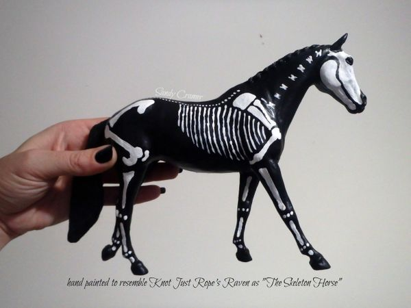 Painted Raven The Skeleton Horse Model- #3h