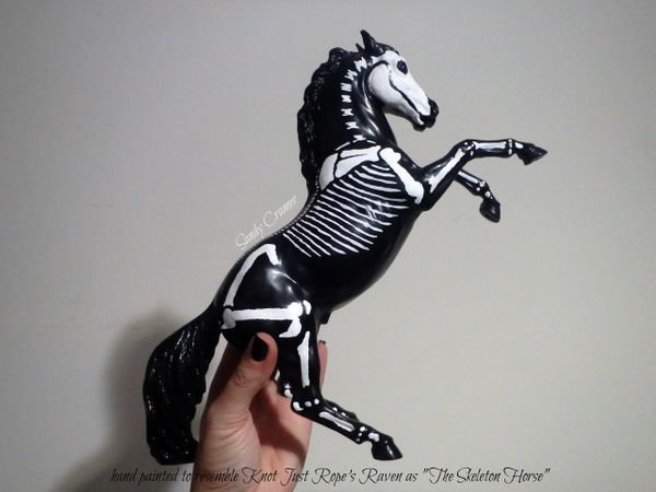 Painted Raven The Skeleton Horse Model- #4a