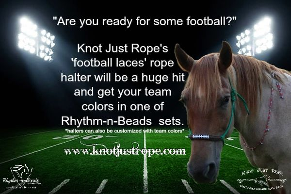 Football Laces Rope Halter