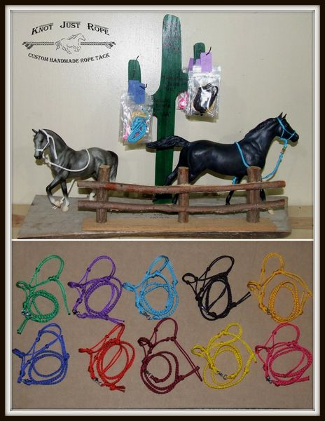 Breyer or Schleich Horse Rope Halter & Lead Set-BULK LOT OF 10