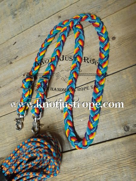 Braided 9 Strand Loop Reins