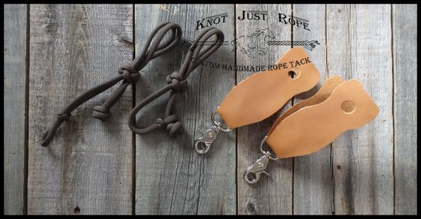 Slobber Straps (pair of 2) - your choice of rope or leather
