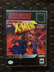 X-Men: Mutant Apocalypse SNES Game Case with Internal Artwork