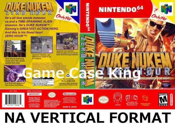 Duke Nukem: Zero Hour N64 Game Case with Internal Artwork