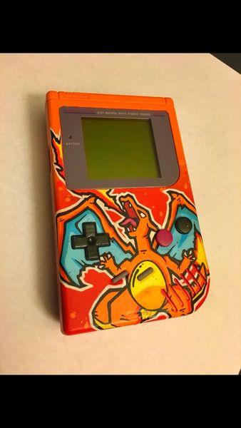 Custom Charizard Design for Gameboy, Gameboy Pocket, or GBC