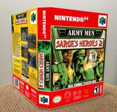 Army Men: Sarge's Heroes 2 N64 Game Case with Internal Artwork