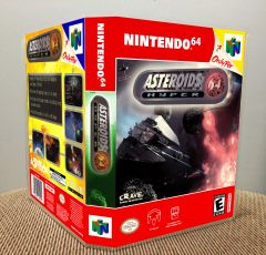 Asteroids Hyper 64 N64 Game Case with Internal Artwork