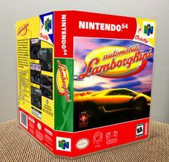 Automobili Lamborghini N64 Game Case with Internal Artwork