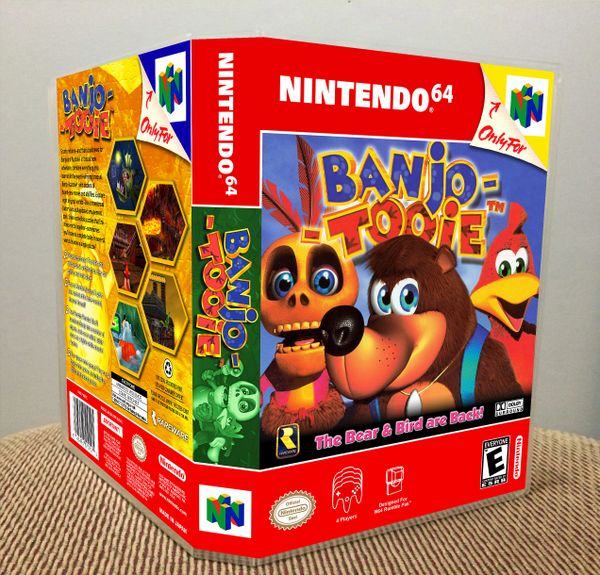 Banjo-Tooie N64 Game Case with Internal Artwork