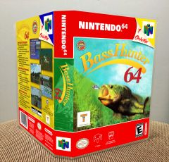 Bass Hunter 64 N64 Game Case with Internal Artwork