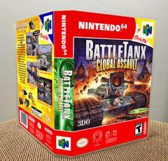 BattleTanx: Global Assault N64 Game Case with Internal Artwork