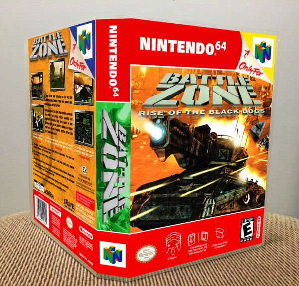Battlezone: Rise of the Black Dogs N64 Game Case with Internal Artwork