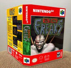 Bio F.R.E.A.K.S. N64 Game Case with Internal Artwork