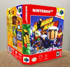 Bomberman 64 N64 Game Case with Internal Artwork
