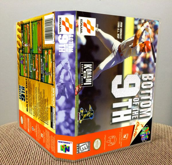 Bottom of the 9th N64 Game Case with Internal Artwork
