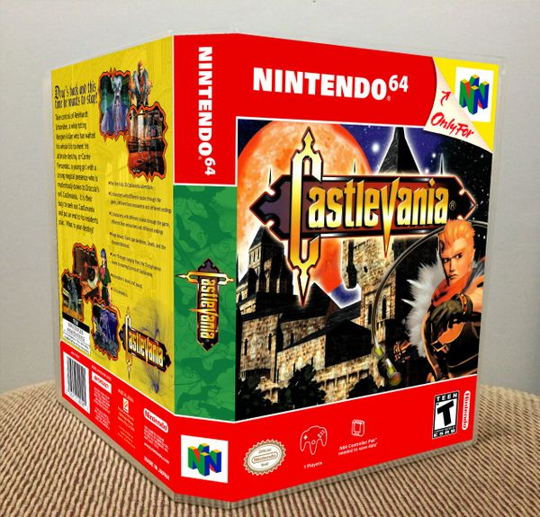 Castlevania N64 Game Case with Internal Artwork