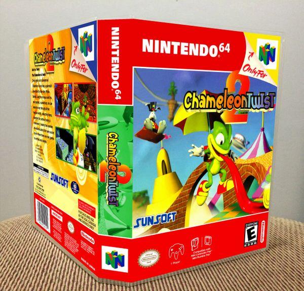 Chameleon Twist 2 N64 Game Case with Internal Artwork