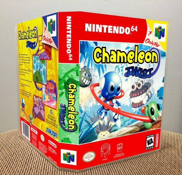 Chameleon Twist N64 Game Case with Internal Artwork