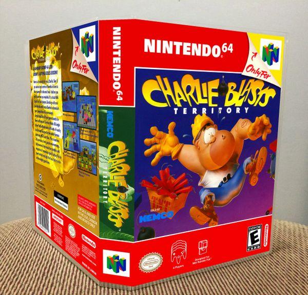Charlie Blast's Territory N64 Game Case with Internal Artwork
