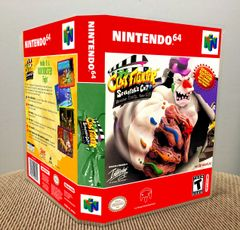 ClayFighter Sculptor's Cut N64 Game Case with Internal Artwork