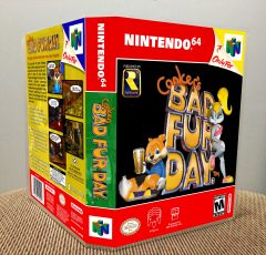 Conker's Bad Fur Day N64 Game Case with Internal Artwork
