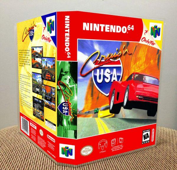 Cruis'n USA N64 Game Case with Internal Artwork