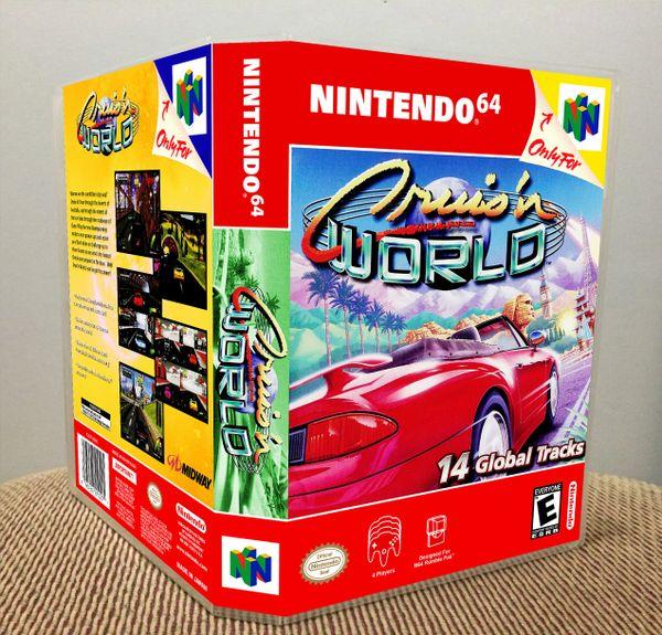 Cruis'n World N64 Game Case with Internal Artwork
