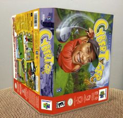 CyberTiger N64 Game Case with Internal Artwork