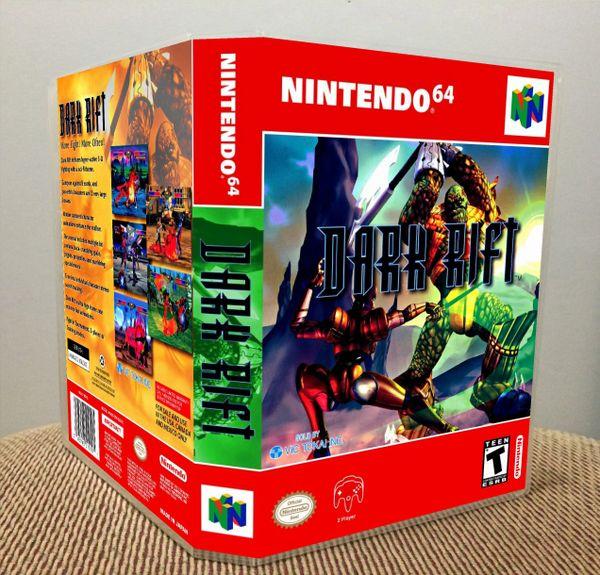 Dark Rift N64 Game Case with Internal Artwork