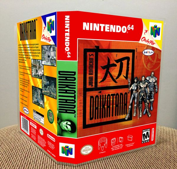 Daikatana N64 Game Case with Internal Artwork