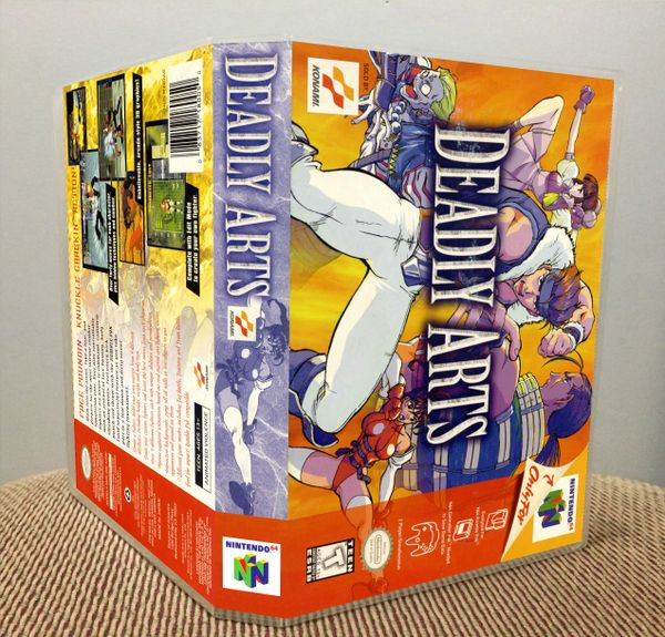 Deadly Arts N64 Game Case with Internal Artwork