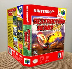 Destruction Derby 64 N64 Game Case with Internal Artwork