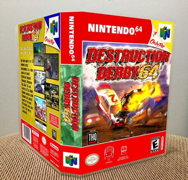 Destruction Derby 64 N64 Game Case with Internal Artwork