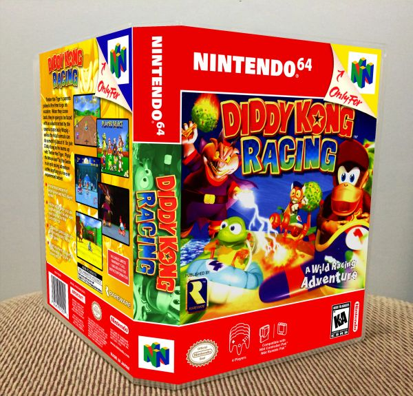 Diddy Kong Racing N64 Game Case with Internal Artwork