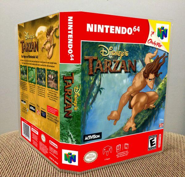 Disney's Tarzan N64 Game Case with Internal Artwork