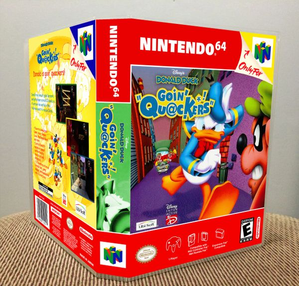 Donald Duck: Goin' Quackers N64 Game Case with Internal Artwork