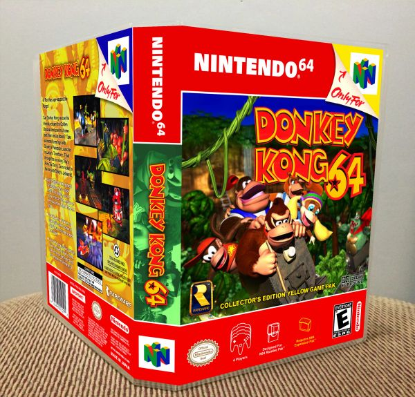Donkey Kong 64 N64 Game Case with Internal Artwork