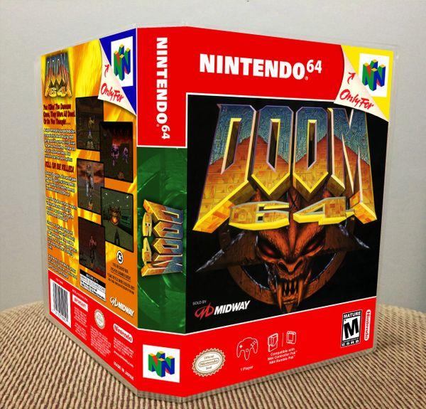 Doom 64 N64 Game Case with Internal Artwork