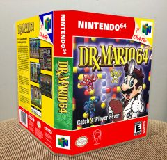 Dr. Mario 64 N64 Game Case with Internal Artwork
