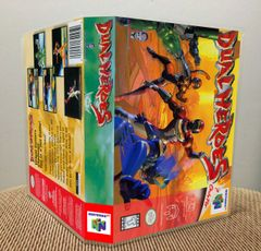 Dual Heroes N64 Game Case with Internal Artwork