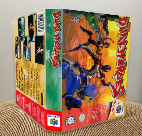 Dual Heroes N64 Game Case with Internal Artwork