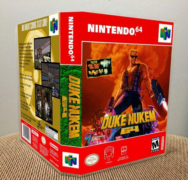 Duke Nukem 64 N64 Game Case with Internal Artwork