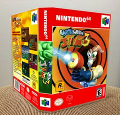 Earthworm Jim 3D N64 Game Case with Internal Artwork